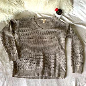 DKNY Crochet Knit Sweater